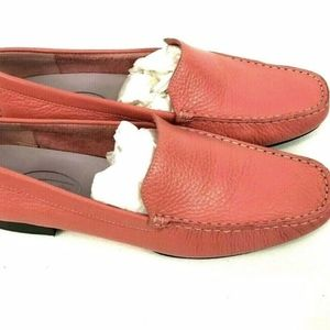 NWT Talbots Ashton5 Pink Leather Loafers Size 7